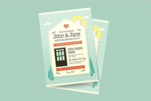 house party invitation card