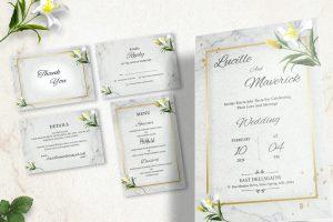 Christian Wedding Invitation Print Ready 004