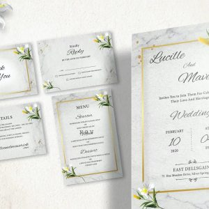 Christian Wedding Invitation Print Ready 004