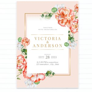Christian Wedding Invitation Print Ready 005