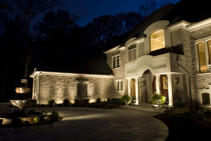landscape lighting project gallery