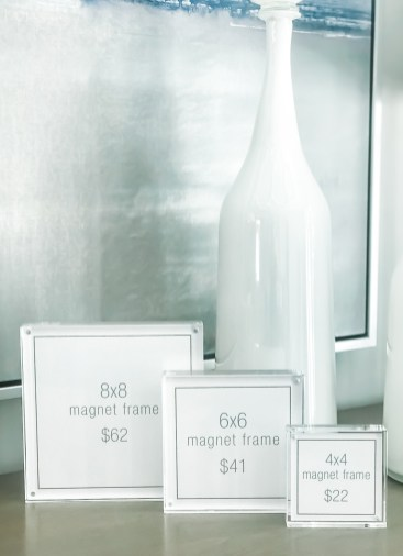 Acrylic Magnet Frames, Square