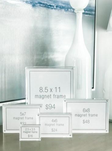 Acrylic Magnet Frames, Rectangular