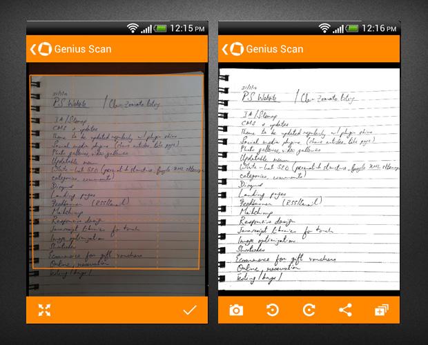 Genius scan iphone app for scanning