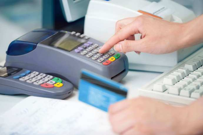 Traditional countertop payment processing in store