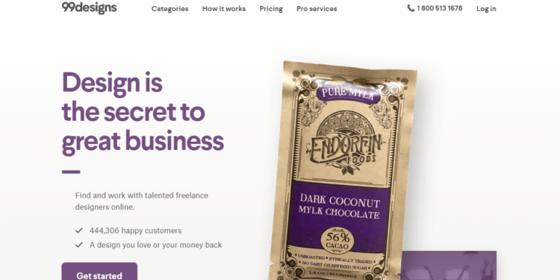 99designs is one of the most popular websites for design freelance jobs