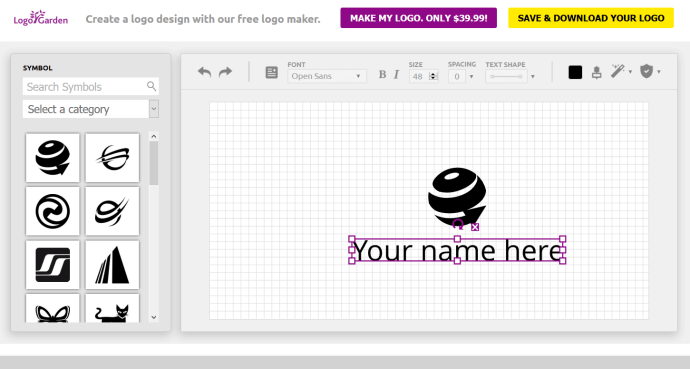 Simple to use logo design software.