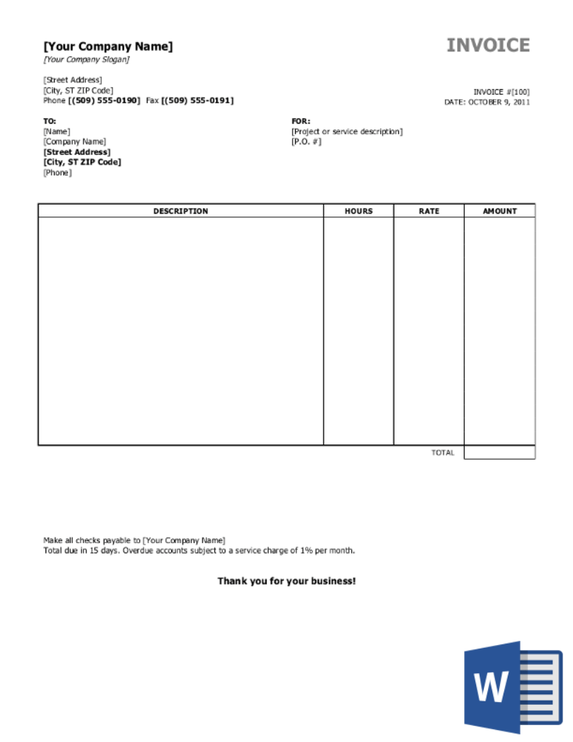 Creating an invoice is a simple way to bill your customers and keep track of your accounts receivable. Free Invoice Templates Download All Formats And Industries Invoiceberry