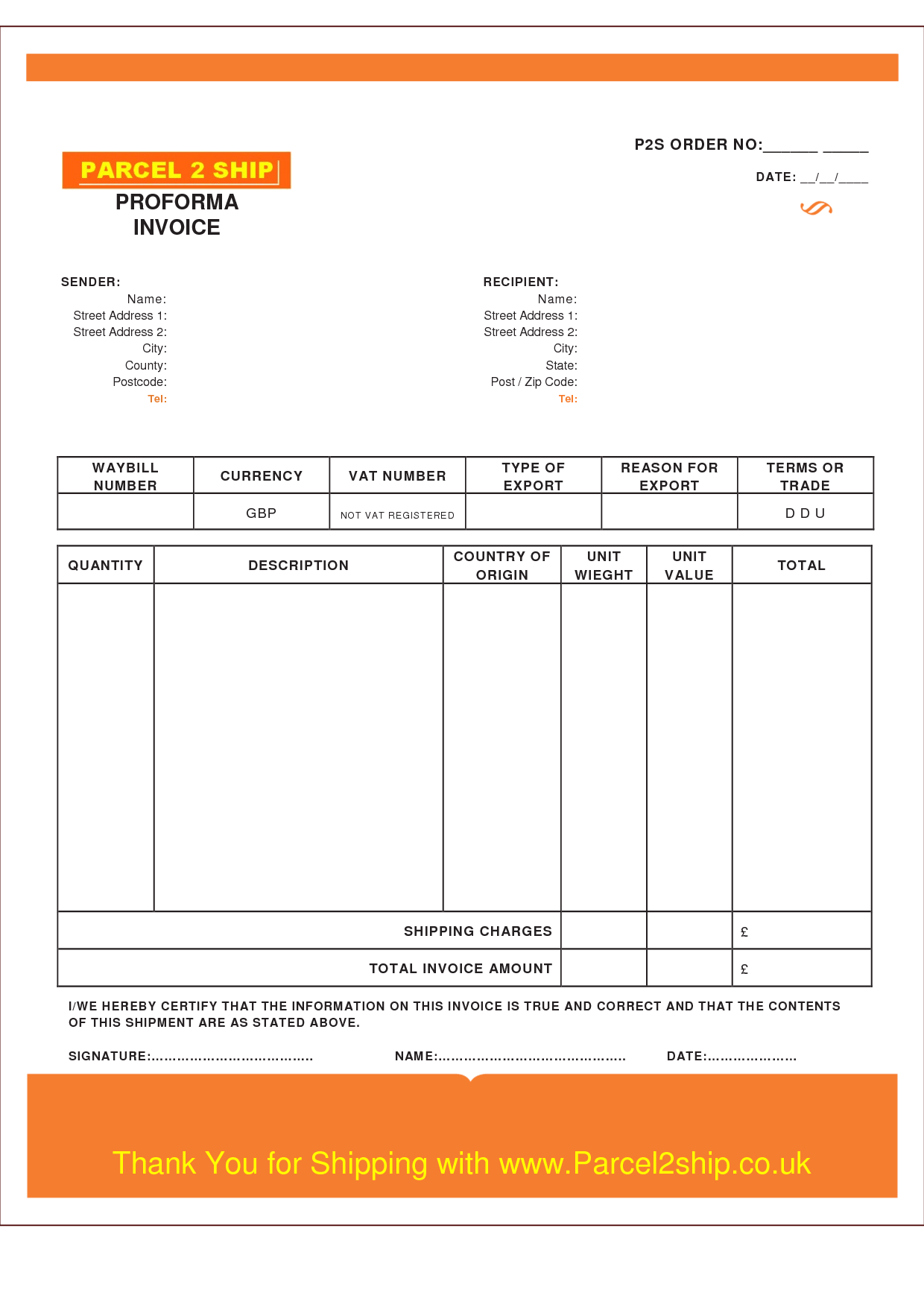Invoice Template Excel Uk
