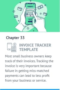 The second page of the invoice has the same header, footer and format as the first. Invoice Tracker Template For Small Businesses