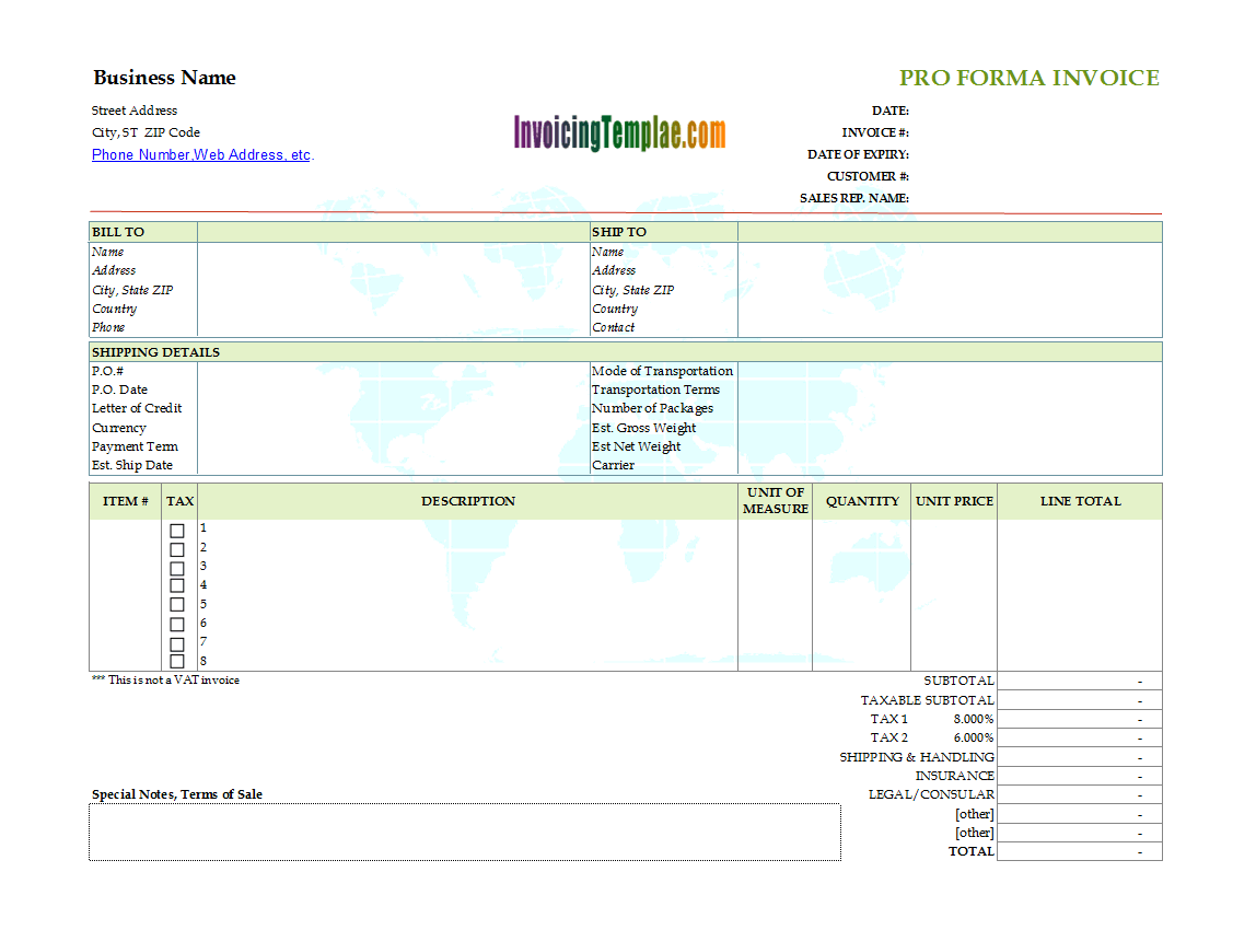 Copy And Paste Invoice Template