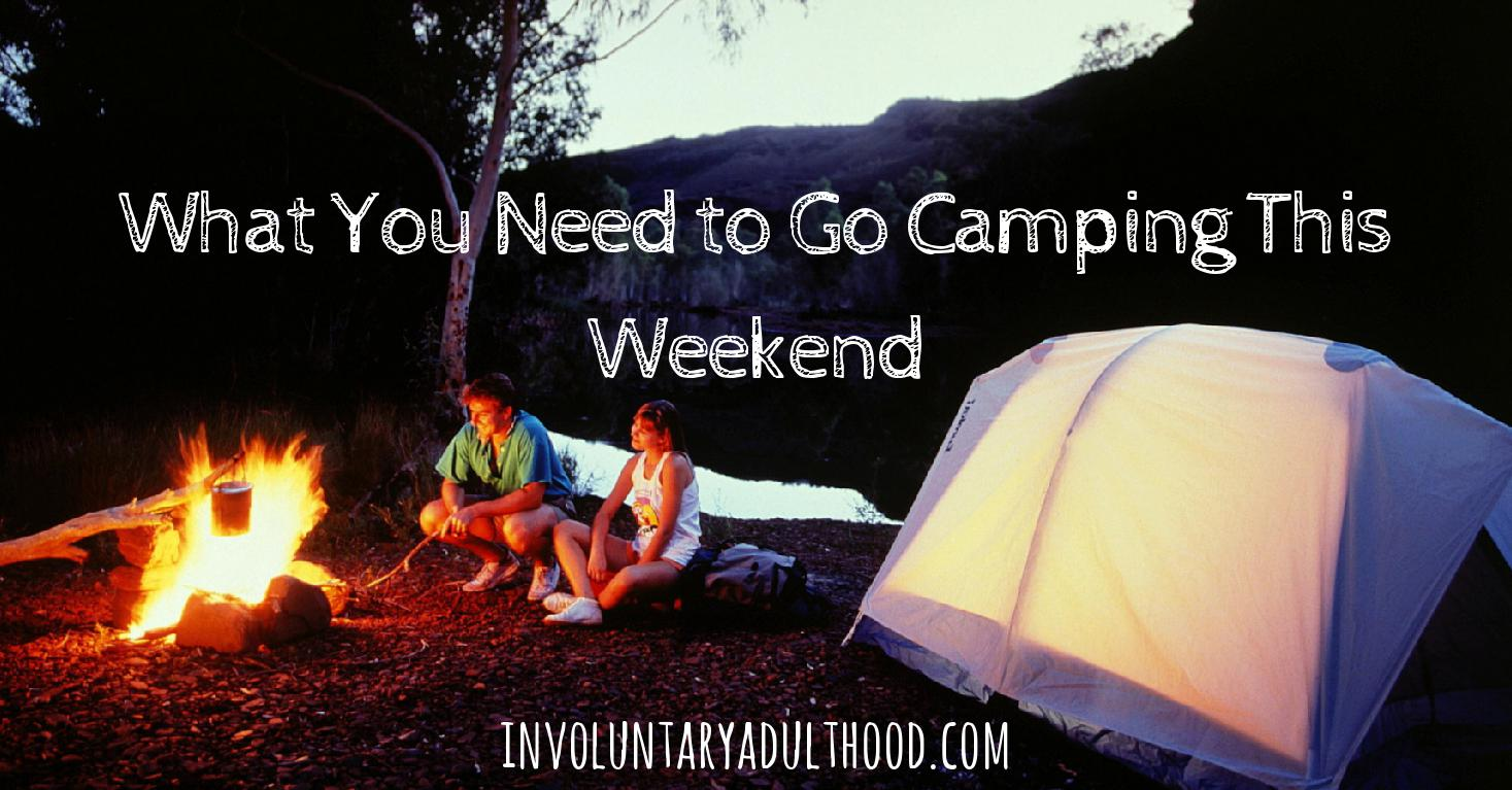 What You Need to Go Camping This Weekend + Free Printable!