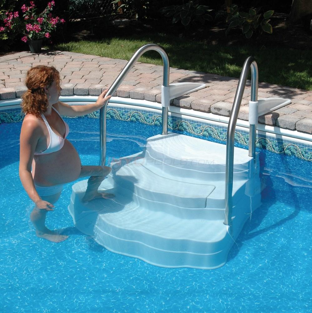 Lumi O Inground Pool Step W SS Rails 5445 NE102