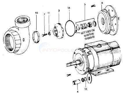 Jacuzzi DB3 Series Commercial Pump Parts  INYOPools