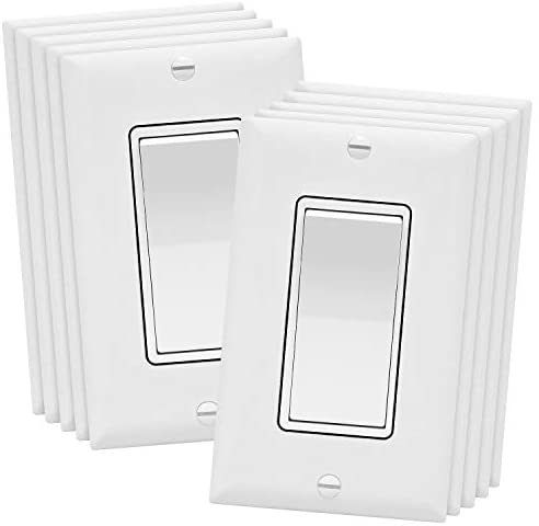 Read more about the article ENERLITES 3-Way Decorator Paddle Rocker Light Switch with Wall Plate, Single Pole or Three Way, 3 Wire, Grounding Screw, Residential Grade, 15A 120V/277V, UL Listed, 93150-WWP-10PCS, White (10 Pack)