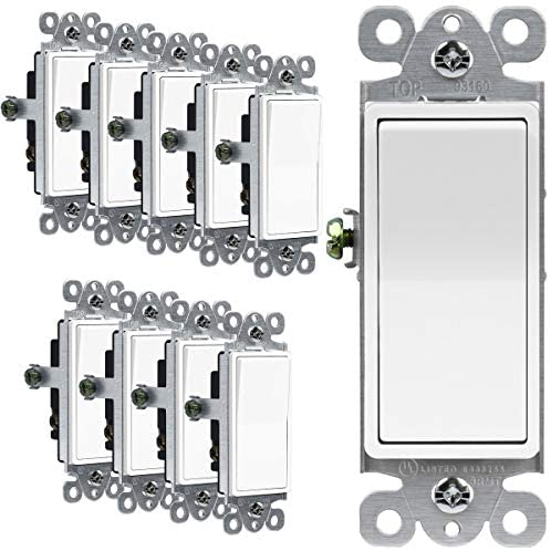Read more about the article ENERLITES Illuminated 3-Way Decorator Paddle Light Switch, Three Way, Push-in Side Wiring, Copper Wire Only, Grounding Screw, Residential Grade, 15A 120-277V, UL-Listed, 93160-W-10PCS, White 10 Pack