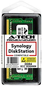 A-Tech 16GB Module for Synology DiskStation DS2419+ DS1819+ DS3018xs DS1618+ DS3617xs NAS Servers – DDR4 2400Mhz PC4-19200 ECC Unbuffered SODIMM Memory RAM (Equivalent to Synology D4ECSO-2400-16G)