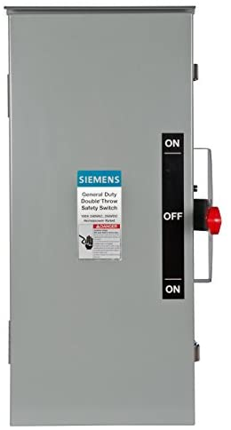 Read more about the article Siemens DTGNF223R 100-Amp, 2 Pole, 240-volt, 2W Non-Fused General Duty, Double Throw, Type 3R