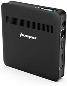 Jumper Mini PC,Lüfterlos 4GB DDR3 64GB eMMC Windows 10 Desktop PC – Intel Celeron CPU Mini Computer HD,HDMI+VGA Anschluss,USB 3.0/Dualband-WLAN/Gigabit-Ethernet/BT4.0