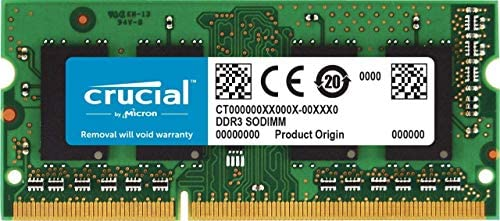 Crucial RAM CT51264BF160BJ 4GB DDR3 1600 MHz CL11 Laptop-Speicher