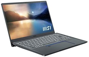 MSI Prestige 14 Evo A11M-005 (35,6 cm/14 Zoll/Full-HD/100% sRGB) Premium Laptop (Intel Core i7-1185G7, 16GB RAM, 512GB PCIe SSD, Intel Iris Xe Grafik, Windows 10) Carbon-Grau