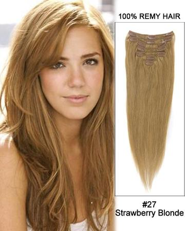 Change your look easily with clip-in hair extensions