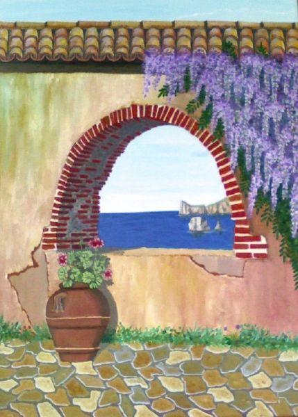 Risultati immagini per quadri e paesaggi del mare di Napoli