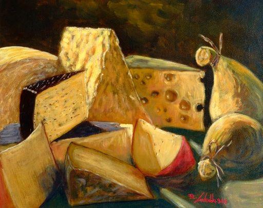 Risultati immagini per natura morta formaggi