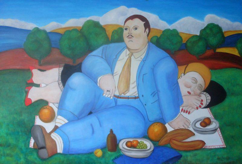 Risultati immagini per quadri di soggetti grassi