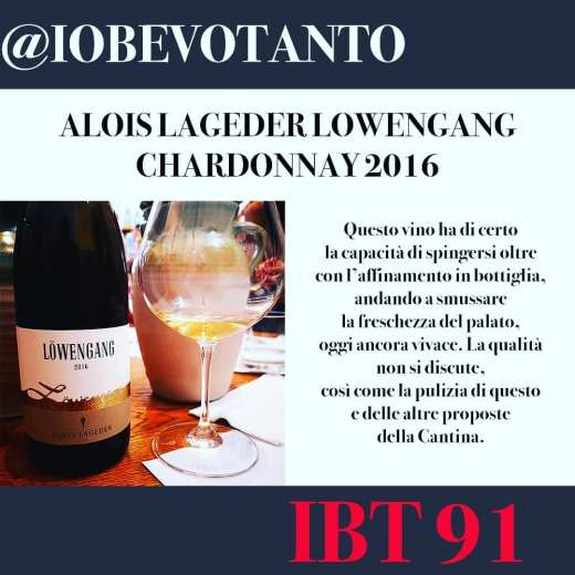 ALOIS LAGEDER LOWENGANG CHARDONNAY 2016