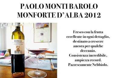PAOLO MONTI BAROLO MONFORTE D'ALBA 2012