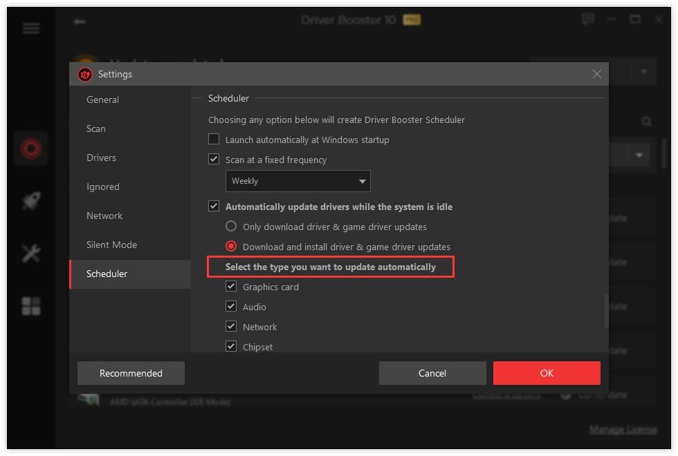 actualización automática cuando el sistema está inactivo