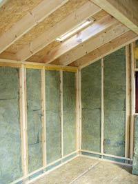 Garden office insulation