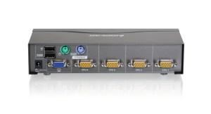 IOGEAR  GCS1724  4 Port VGA KVM Switch, PS2 and USB