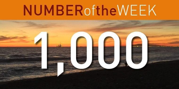 1000 barrels Number of the Week image
