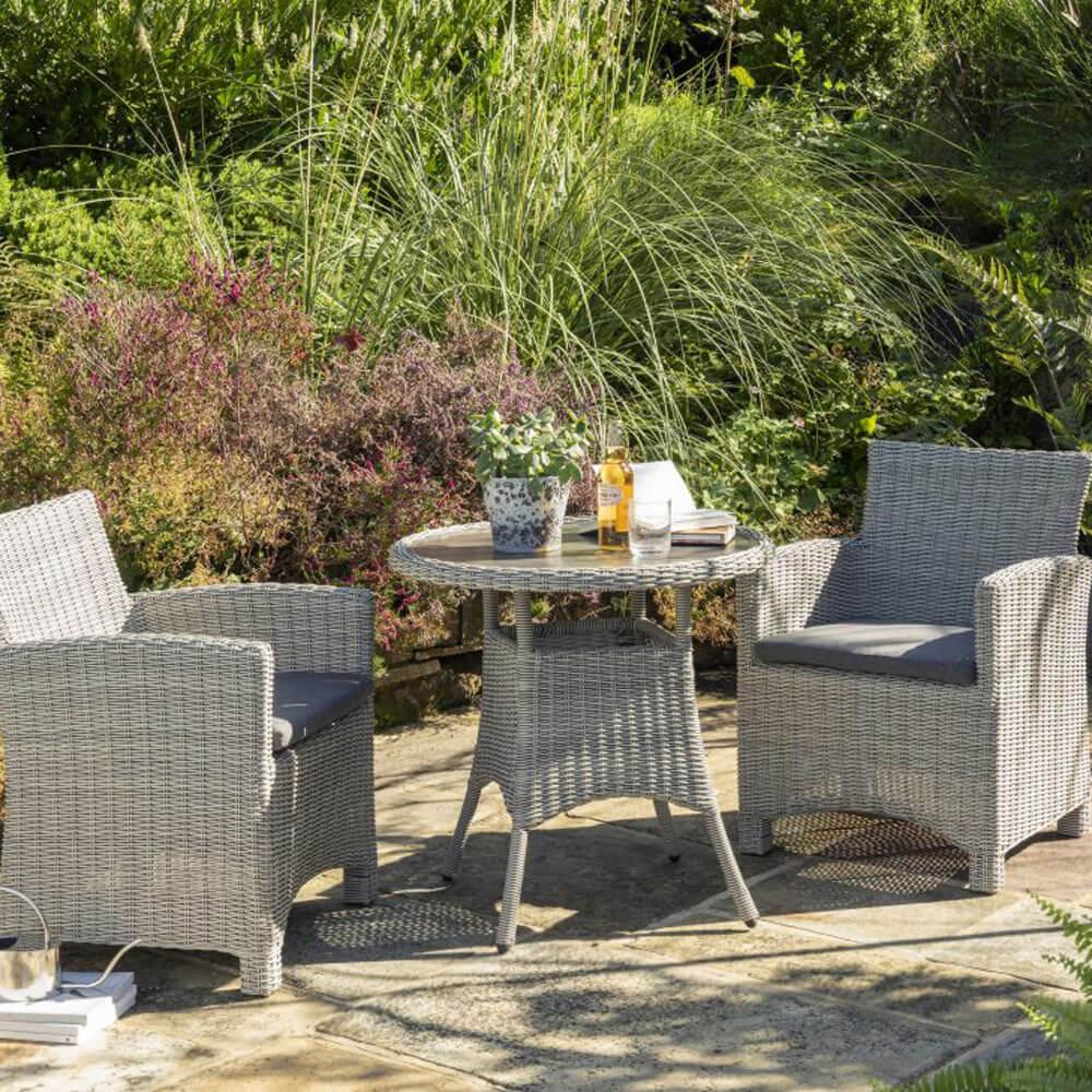 2021 kettler palma garden bistro table set whitewash