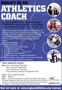 Poster Athletics Coach Course
