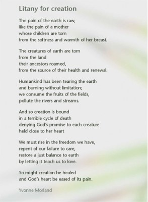 Litany for creation