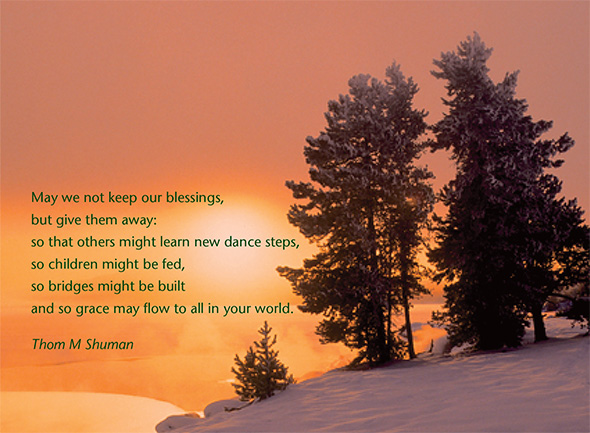 May we not keep our blessings, by Thom M Shuman