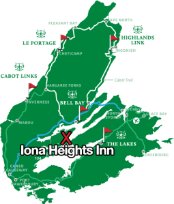 Cape Breton Island Golf Course Map