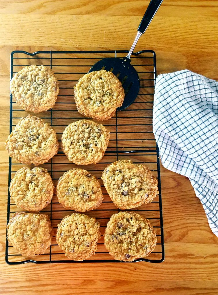 Fresh from the oven, these chewy on the inside and crispy on the outside oatmeal chocolate chip cookies will be a recipe you'll pass down for generations.