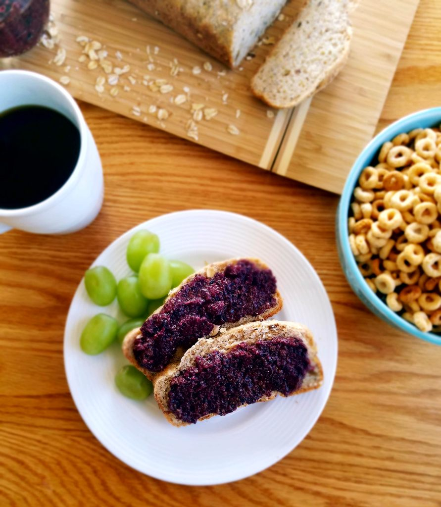 Healthy homemade blueberry chia jam recipe is super simple and super delicious