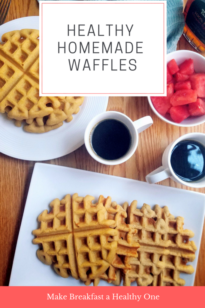 Make breakfast a healthy one with this slightly sweet homemade chickpea waffle recipe.