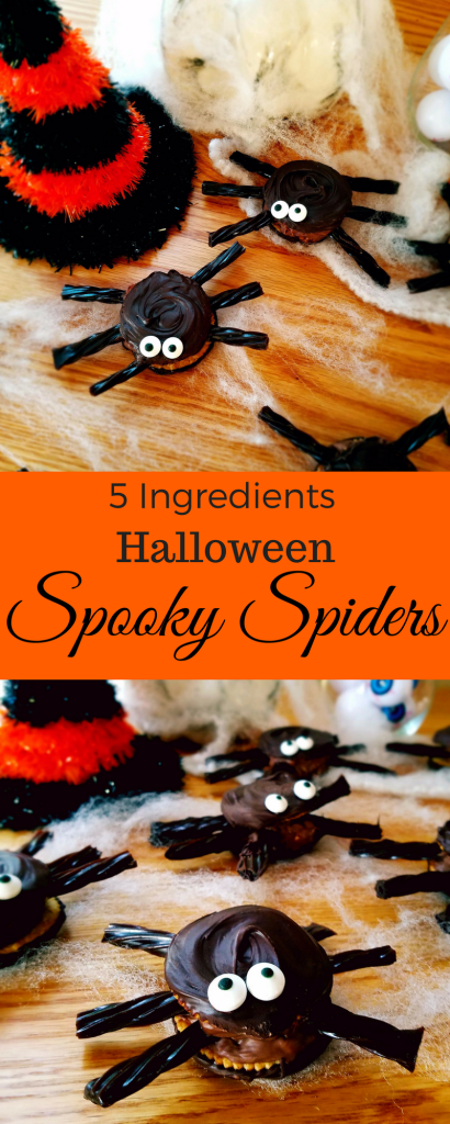 These spooky spiders are a perfect Halloween treat for your upcoming Halloween party. Only 5 ingredients and super easy to make.