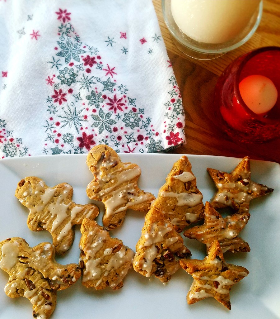 Gluten free maple pecan cookies are dairy free, gluten free and vegan. Take these cookies to your next holiday party and watch all of your guests clamor over these tasty little cookies. #healthydessert #vegan #vegancookies #glutenfree #glutenfreebaking