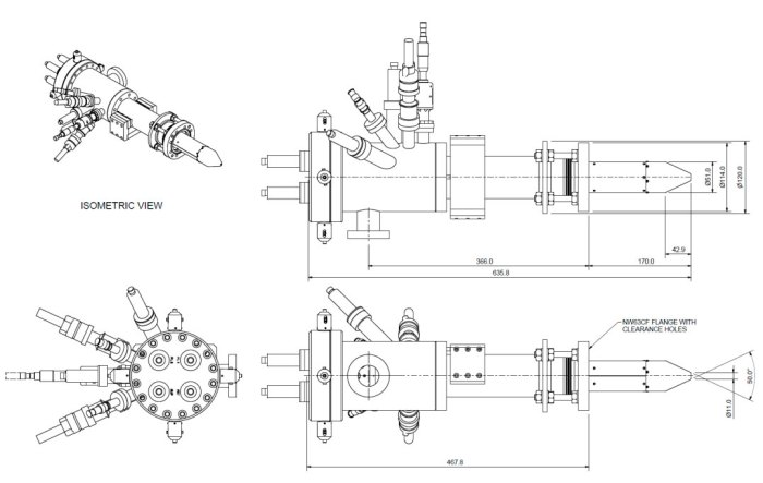 Key dimensions of the IOG 25GA