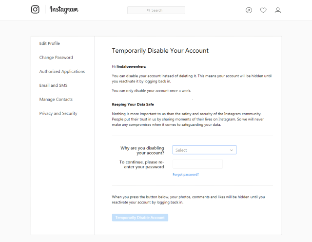 Delete Instagram  How to deactivate or delete your Instagram