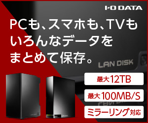 ioPLAZA【直販限定モデル!ネットワークHDD】