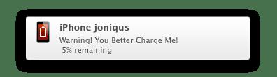 iBetterCharge Notification
