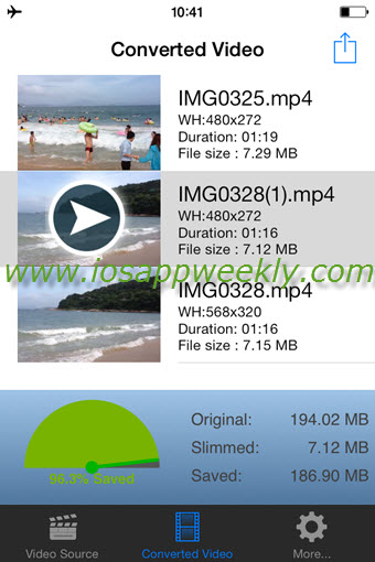 video slimmer app convert videos to smaller files